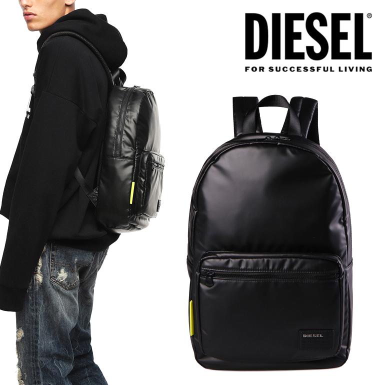 ディーゼル DIESEL バックパッグ バッグ リュックロゴ 無地 シンプル かっこいい ブラック 黒F-DISCOVER BACK X04812 P1157 T8013軽量 クッション素材 ワンポイント デイリー