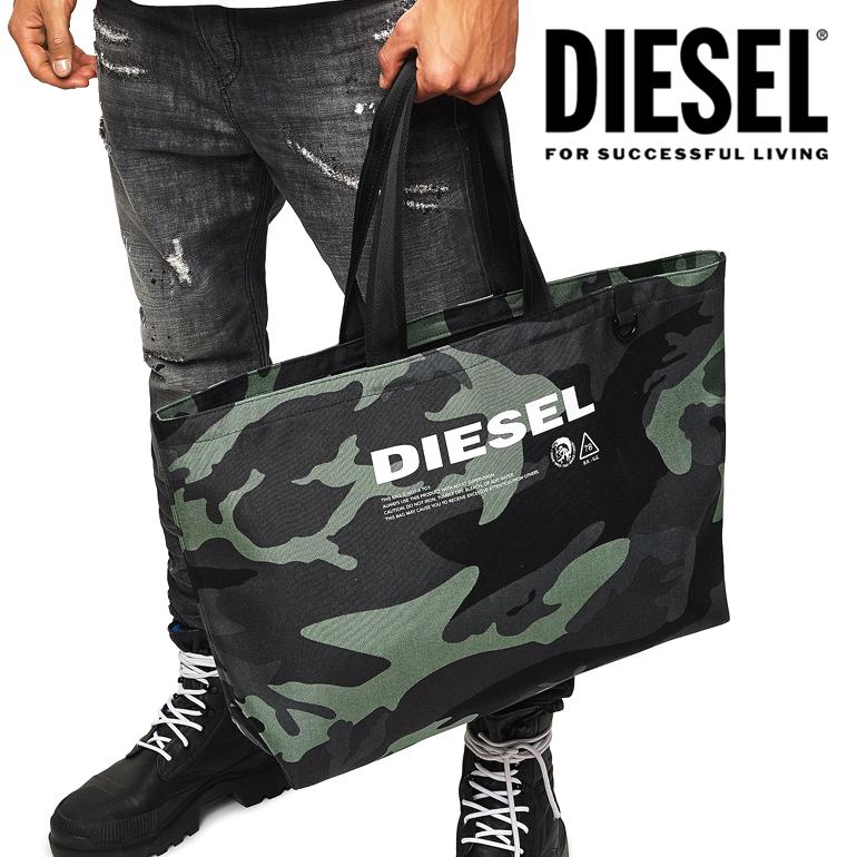 DIESEL ディーゼル 迷彩 トートバッグ X05513 PR027 H5253D-THISBAG SHOPPER L バッグ 鞄 カモフラージュ【ラッピング不可】