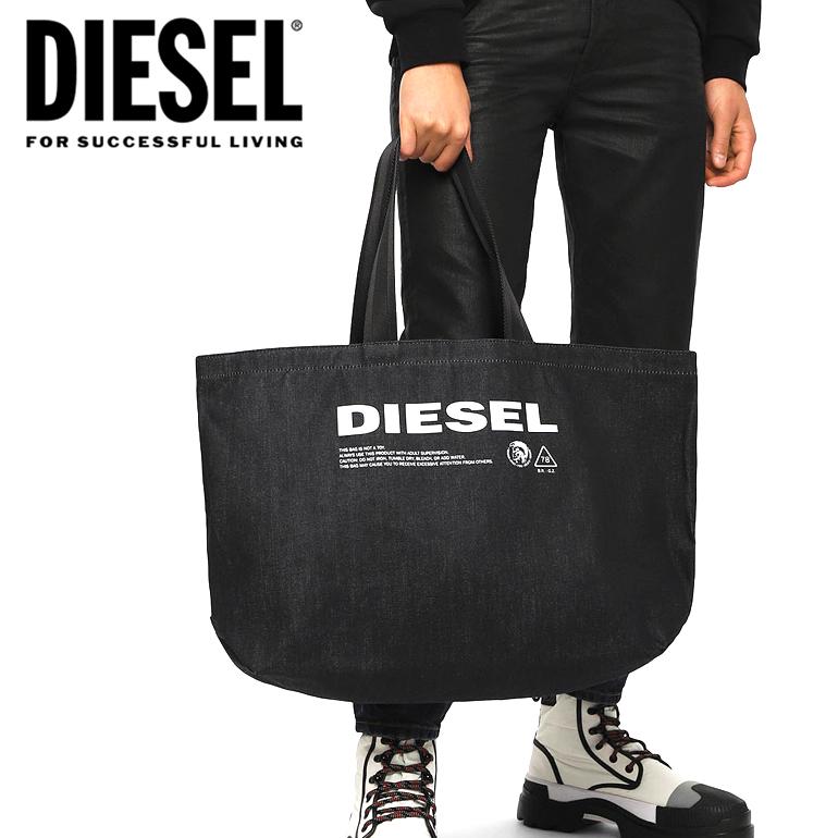 DIESEL ディーゼル デニム トートバッグ X05513 PR413 T6065D-THISBAG SHOPPER L バッグ 鞄 ビンテージ加工 【ラッピング不可】