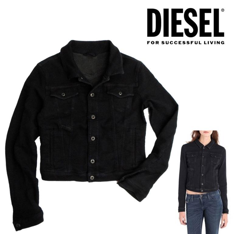ディーゼル DIESEL レディース Gジャン デニムジケットFRING-NE 807G /JOGG JEANS スウェットジャケットブラック 黒