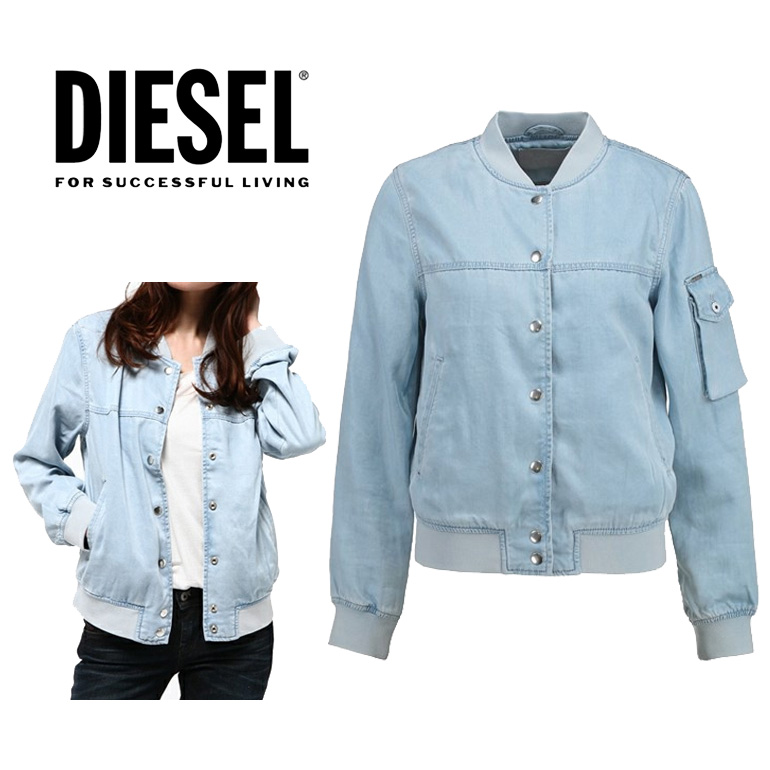 ディーゼル DIESEL トップス ジャケット レディース DE-MATTY GIACCAボンバージャケット MA1 デニム かわいい かっこいい 海外ブランド インポート ドレス