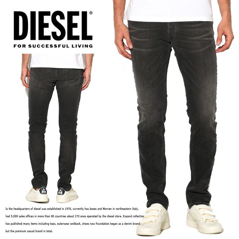 ディーゼル DIESEL メンズ デニム パンツTROXER R9F66 スリムスキニージーパン/デニム/カラーパンツ/ブラックデニム送料無料/即納/正規品