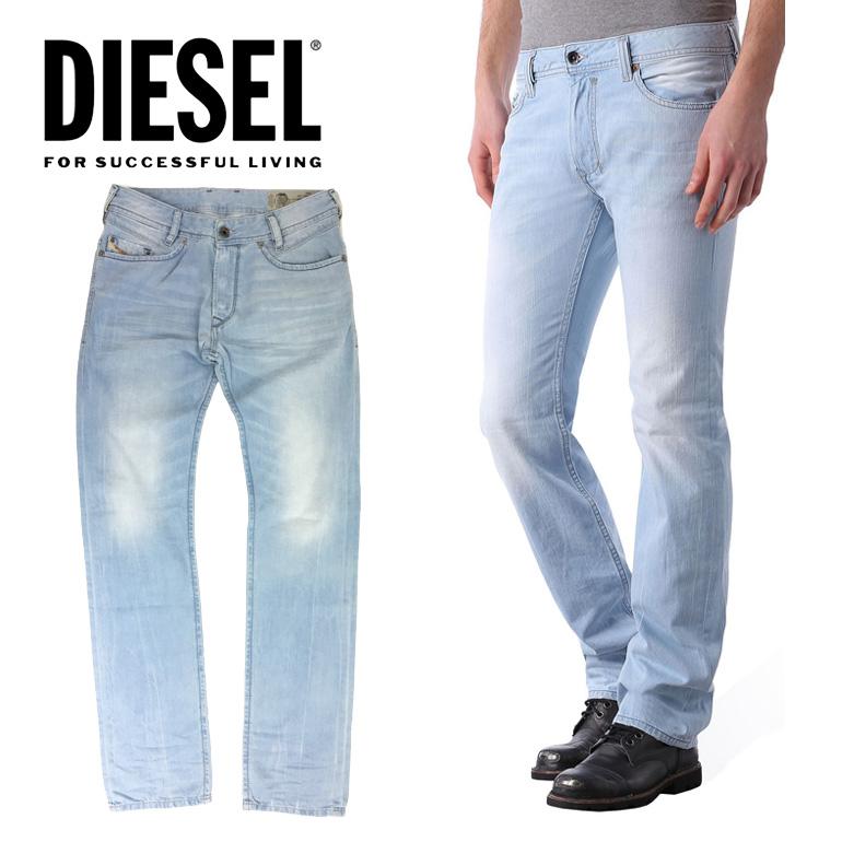 ディーゼル DIESEL メンズ デニム パンツIAKOP 852I/レギュラースリムテーパードライトブルー/ジーパン/デニム/カラーパンツ送料無料/即納/正規品