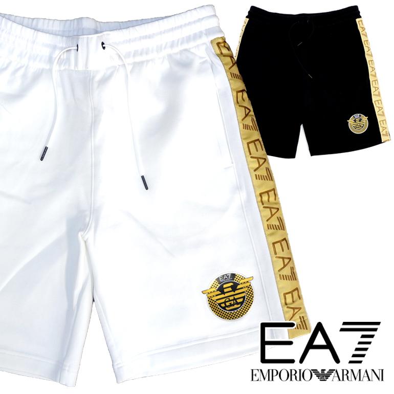 EMPORIO ARMANI エンポリオアルマーニ EA7 メンズ ハーフパンツ3GPS62 PJT6Z ショートパンツ ショーパン イーグルロゴ ブランドネーム ロゴホワイト ブラック プレゼント ギフト 父の日