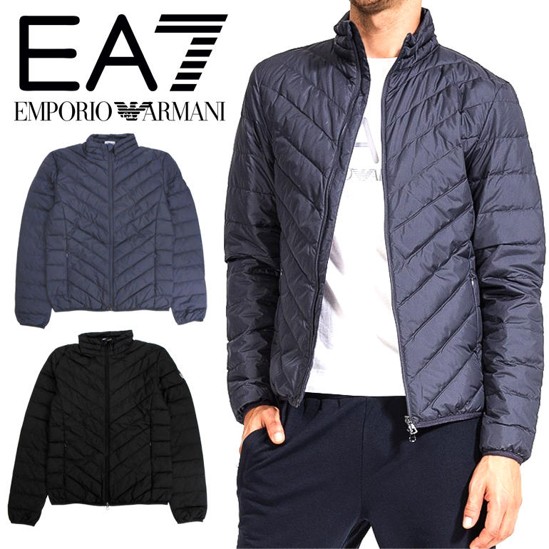 EMPORIO ARMANI エンポリオアルマーニ EA7 ライトダウンジャケット アウター8NPB08 PNE1Zブルゾン ブラック