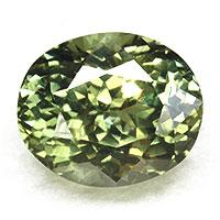 テリ強し オリーブの煌き 天然石 宝石 非加熱 オリーブグリーンサファイア1.91CT 日本未発売 ルース 買取