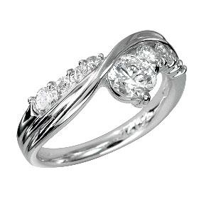 色石 カラーストーン ダイヤモンドでプラチナや18Kゴールドのジュエリー加工 ジュエリー加工 リフォーム 空枠 ショッピング 0.5CT台 激安通販販売 リング Q4132