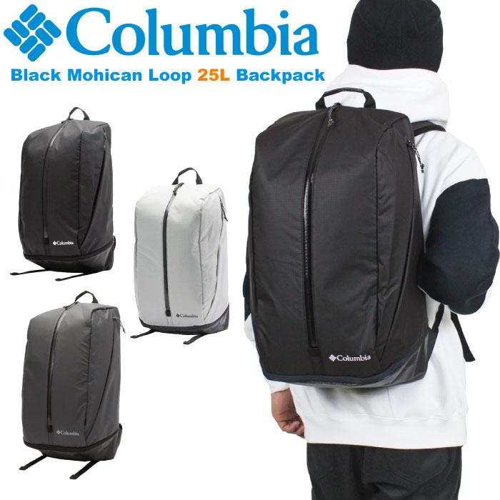 ★全品対象クーポン&ポイント10倍★【送料無料】【2019秋冬新作】Columbia コロンビア ブラックモヒカンループ バックパック 25L リュックサック デイパック アウトドア 旅行 通勤 通学 メンズ レディース Black Mohican Loop 25L Backpack PU8056