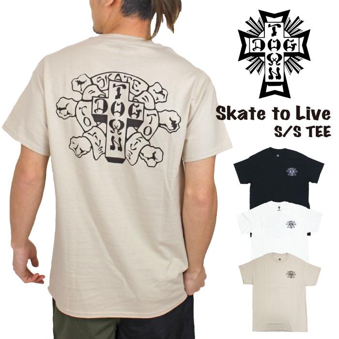 期間限定ポイント5倍 SALE 50%OFF DOG TOWN ドッグタウン Skate to ショップ Live S DT0101010 ライブ スケーター TEE ロゴ 半袖Tシャツ メンズ スケボー 公式 SK8