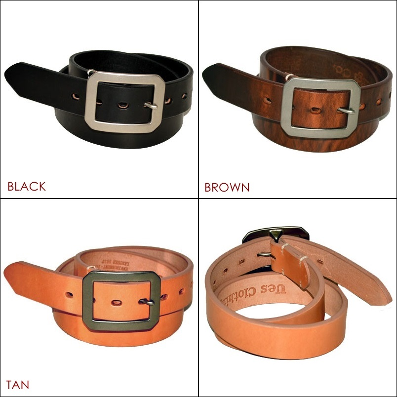 """UES (RAG) """"84-SBN"""" square buckle belt [belt]"""