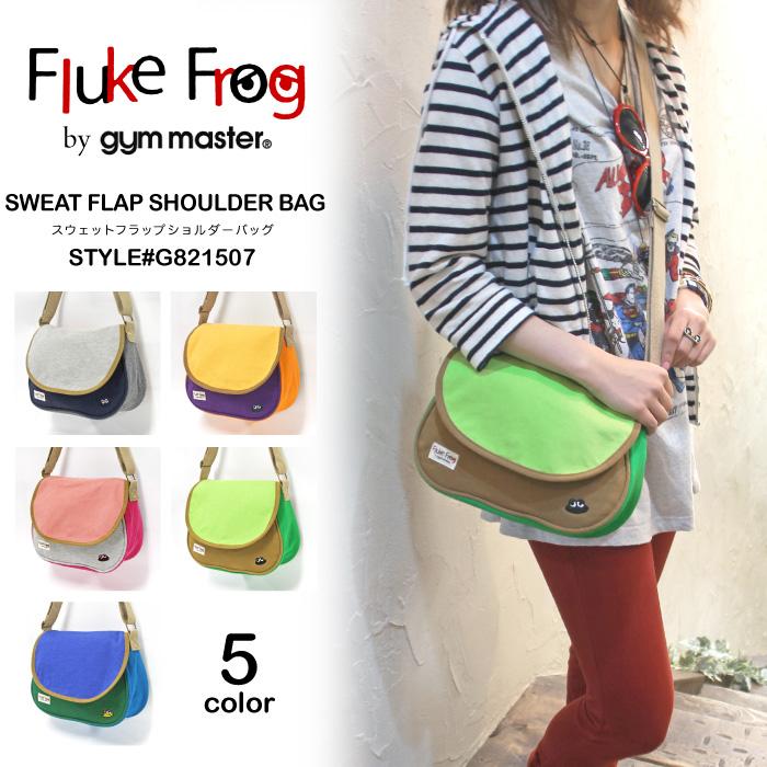Fluke Frog by gym master frog embroidery sweat shirt flap shoulder bag fluke frog Lady's G821507