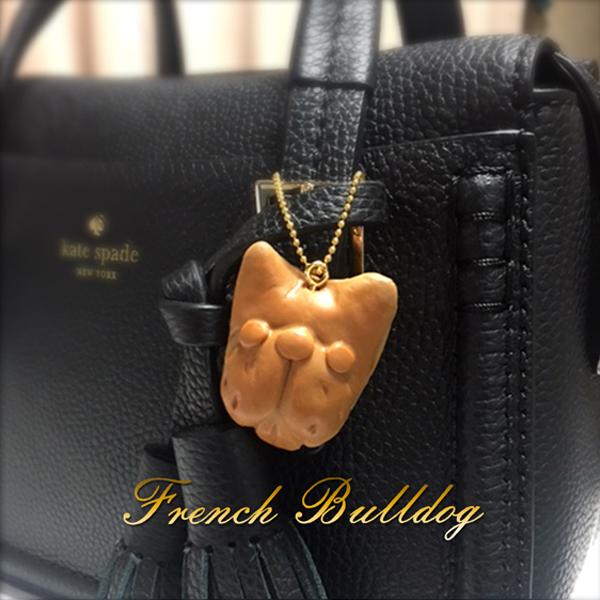 フレブル ハンドメイドアクセサリー SALE フレンチブルドッグのパン風キーホルダー犬 雑貨 本日の目玉 オーナーグッズフレブル 贈答 アクセサリー キーホルダー