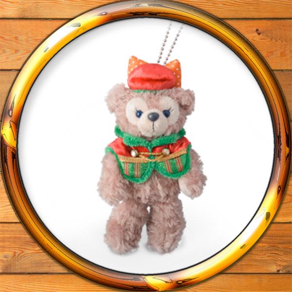 メール便可 ダッフィー 祝日 ぬいぐるみバッジ パーフェクト クリスマス 年中無休 2015 キーホルダーシェリーメイのお友達 ディズニーシー限定 10周年ショップ袋付きぬいば