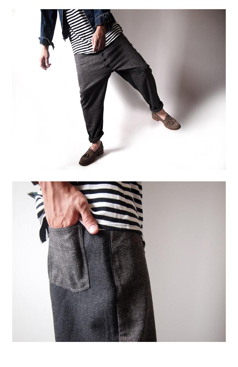 Women\u0027s harem pants/men \u0027s/women\u0027s harem/crazy/Tweed/herringbone/wool and woolen  sarouel pants/wool pants/crotch wool/tseadsarel / spring