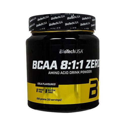アミノ酸L-ロイシンの割合を増やしたプロテインサプリメント 海外通販 日時指定不可 BCAA8:1:1 ゼロ コーラ味 2020 BioTechUSA プロテインサプリメント:ヤマト国際便発送 Zero 1本 即納最大半額 Cola 33回分