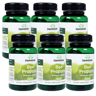【海外直送:日時指定不可】プロポリス550mg 60錠 6本(Swanson/スワンソン)≪健康維持 活力サポート≫