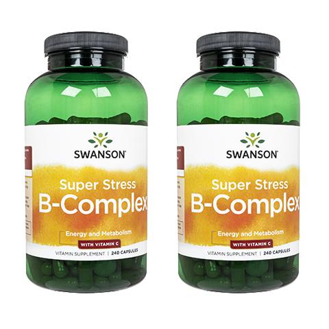 ビタミンB群 ビタミンCを補給するサプリメント 値引き 海外通販 日時指定不可 スワンソン スーパーストレス B-コンプレックス お得セット 2本Swanson VitaminC SuperStressB-Complex w ビタミンC 240錠 :ヤマト国際便発送