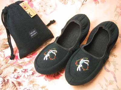 Slippers rabbit embroidered matano Atsuko nonstandard-size mail mobile phone fs3gm