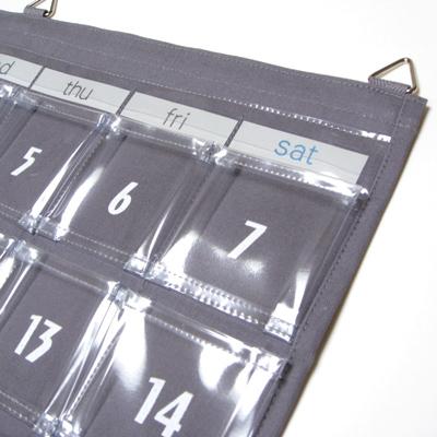 Wall pocket with a community calendar Pocket canvas Wall Pocket fs3gm