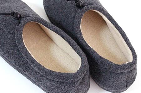 可調式羊毛房間鞋 L 大小為男子的