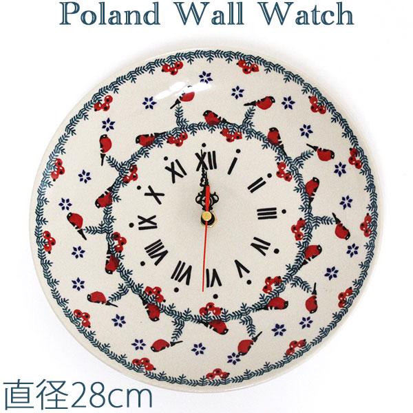 ポーリッシュポタリー ポーランド食器 ポーランド陶器・食器 壁掛け時計 Wall Watch 陶器時計 ギフト マニュファクトゥラ社 Z144-GILE 東欧雑貨 ポーリッシュ・ポタリー