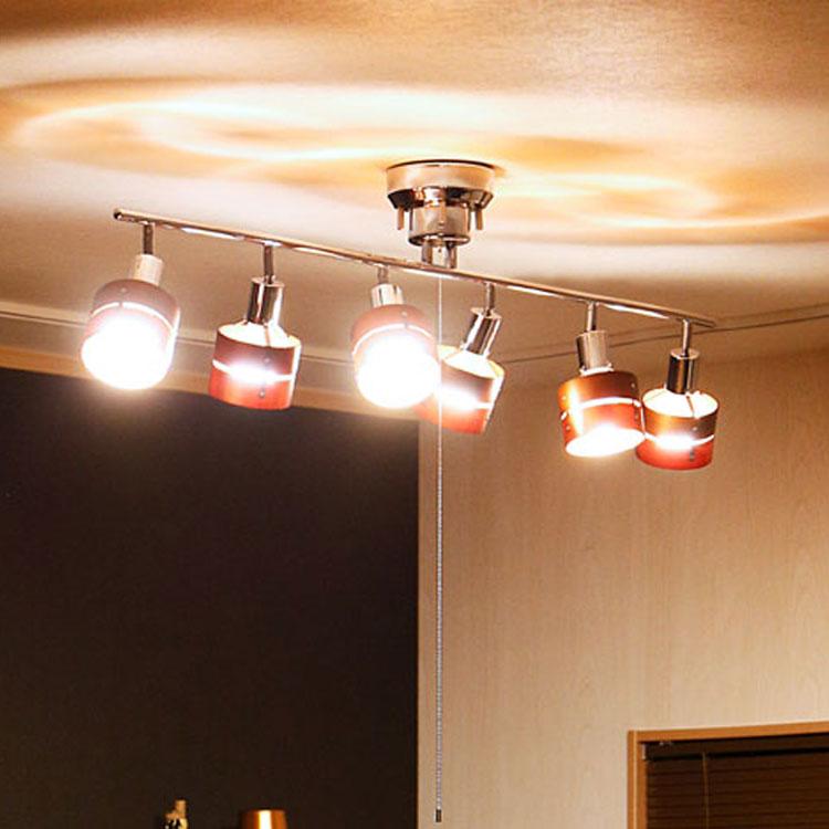 シーリングスポットライト 6灯 レダシックス