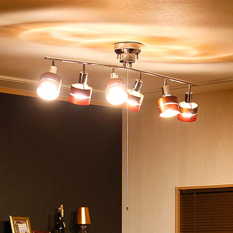 천장 라이트 6 라이트 LED 대응 레 식스 접는 타입 [Leda Six] 보 벨 [beaubelle]