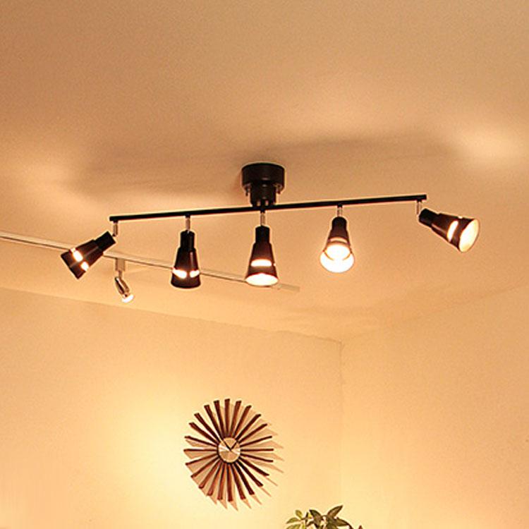 シーリングライト リモコン付 LED 5灯 クインク[Quinque]BBR-006|スポットライト 天井照明 照明器具 リモコン リモート 間接照明 リビング用 居間用 ナチュラル テイスト おしゃれ 和室 寝室 インテリア ライト 電気 シーリング 新生活