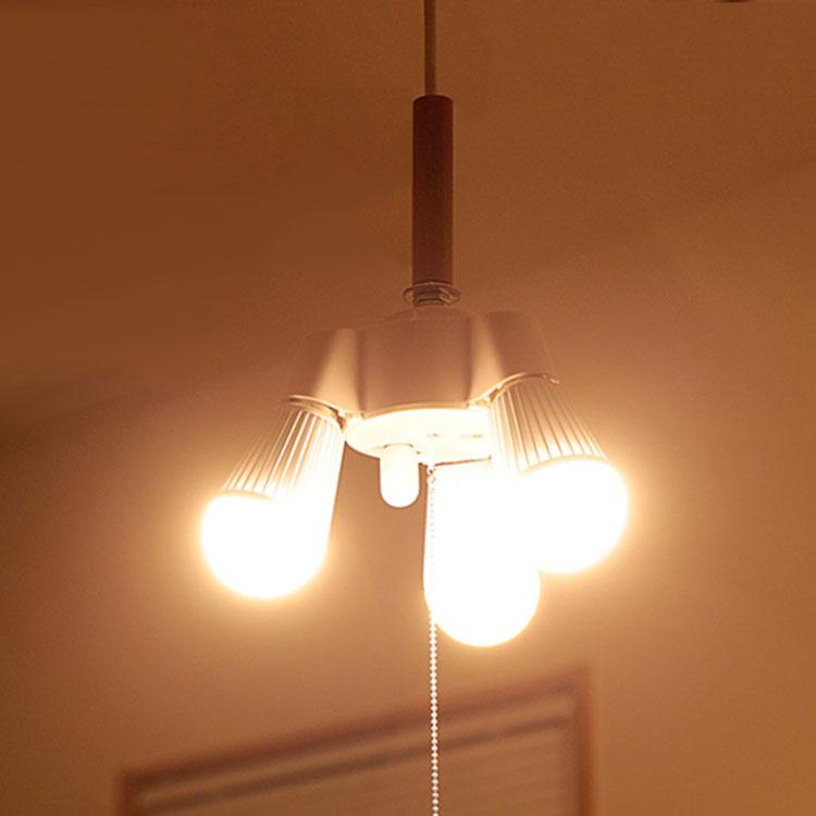 楽天市場 3灯 ソケットコード 100cm 照明器具 天井照明 コードセット