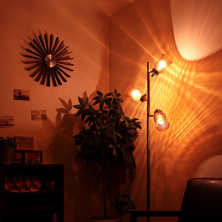 【送料無料・一部地域を除く】フロアライト 3灯 ラーレ[Lare]BBF-013 ボーベル[BeauBelle]フロアランプ フロアスタンドライト 間接照明 北欧 アンティーク ガラス 寝室 ベッドサイド おしゃれ インテリア led スポットライト照明器具 リビング用 居間用 新生活 テレワーク
