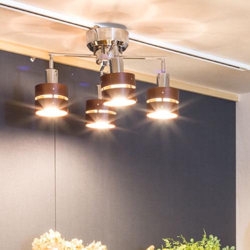 シーリングライト LED照明 スポットライト 4灯 レダカイ リモート[Leda X Remote]ボーベル|北欧 和室 天井照明 リモコン おしゃれ ダイニング用 食卓用 リビング用 居間用 照明器具 電気 ライト 調光 スポット シーリング インテリア 新生活