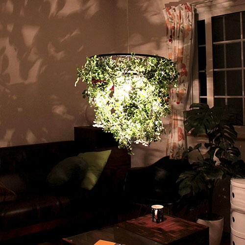 ペンダントライト 1灯 ミニ フォレスティ[Mini foresti]ディクラッセ LP3000GR|天井照明 間接照明 led シーリングライト フェイクグリーン 子供部屋 北欧 おしゃれ ダイニング用 食卓用 インテリア 照明器具 シーリング ペンダント 電気