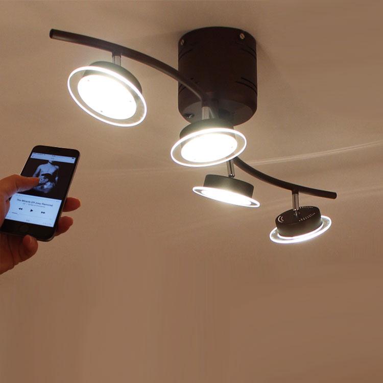 【送料無料】ledシーリングライト 照明 おしゃれ 天井 リモコン付 北欧 インテリア ルジック インテリア  天井照明 シーリング ライト 照明器具 スポット スポットライト リビング用 居間用 リビングライト 寝室 bluetooth スピーカー