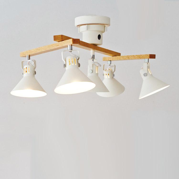 シーリングライト 5灯 ツェッペリン[ZEPPELIN]インターフォルム[INTERFORM]|照明器具 天井照明 スポットライト リモコン付 LED シンプル スチール かわいい 北欧 リビング用 居間用 インテリア ライト 電気 シーリング スポット 新生活