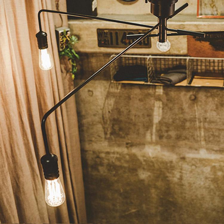 シーリングライト 3灯 ナロスト[NAROST CEILING LIGHT]LT-1654 インターフォルム[interform]|インテリア 間接照明 E26 led スチール レトロ 北欧 寝室 おしゃれ かわいい インテリア 照明器具 天井照明 ライト 電気 シーリング リビング用 居間用 子供部屋 テレワーク