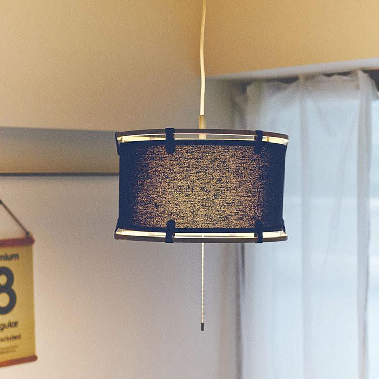 ペンダントライト 2灯 クロイト[Kreuth]lt-1909 インターフォルム[interform]|天井照明 照明器具 E26 led 木 布 スチール 北欧 おしゃれ 男前 シンプル ナチュラル インテリア シーリング ライト ダイニング用 リビング用 居間用 食卓用 デザイン 子供部屋