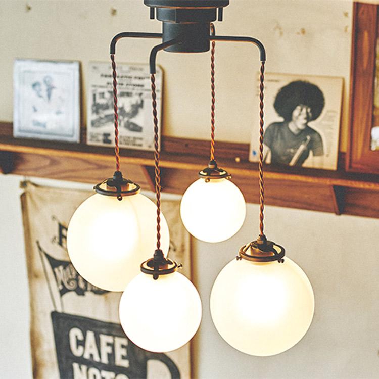 シーリングライト 4灯 オレリアC[Orelia(C)]lt-1948 インターフォルム[interform]|天井照明 照明器具 E26 E17 led ガラス スチール 北欧 おしゃれ 男前 シンプル モダン インテリア シーリング ライト ダイニング用 リビング用 居間用 食卓用 新生活