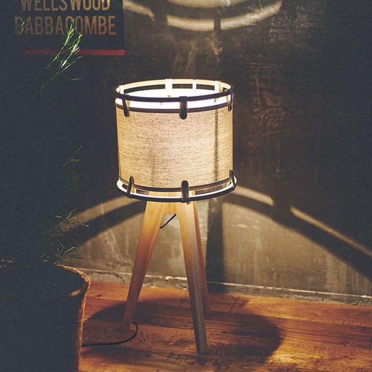 テーブルライト 2灯 クロイト テーブル ランプ[Kreuth Table Lamp]LT-2111 インターフォルム[interform]照明器具 E26 led 木 布 スチール 北欧 おしゃれ 男前 シンプル ナチュラル インテリア フロアライト スタンドライト 寝室 ベッドサイド リビング用 新生活 テレワーク