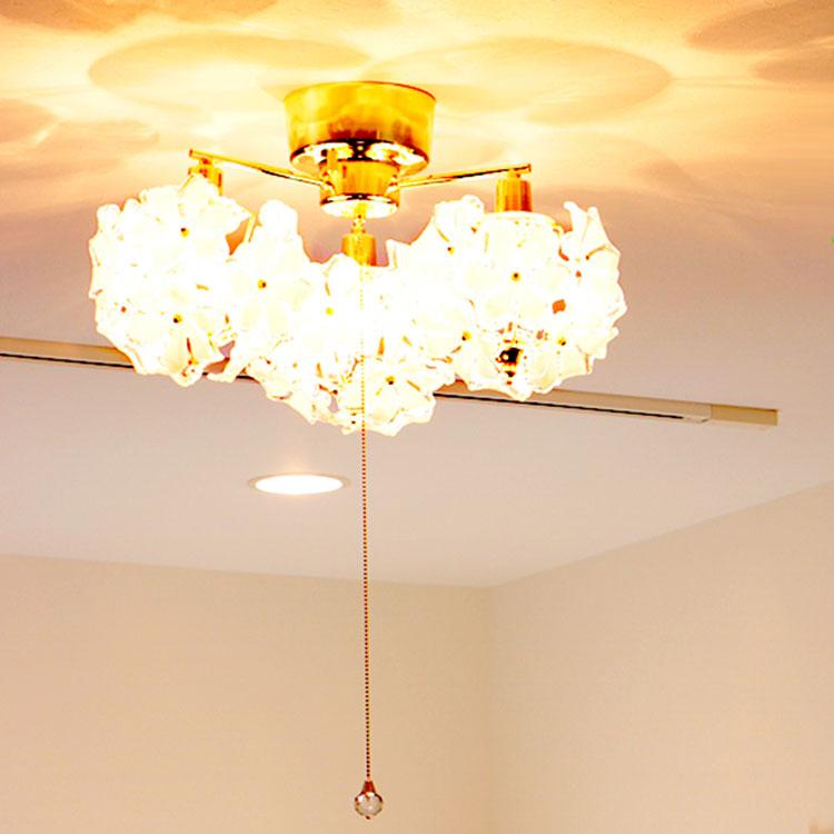 照明 LED 対応 シーリングライト 3灯 ブーケ|ライト シーリング インテリア照明 天井照明 キッチン 階段 内玄関 照明器具 北欧 おしゃれ アンティーク レトロ ダイニング用 食卓用 インテリア 居間用 電気 寝室 リビング用 子供部屋 テレワーク
