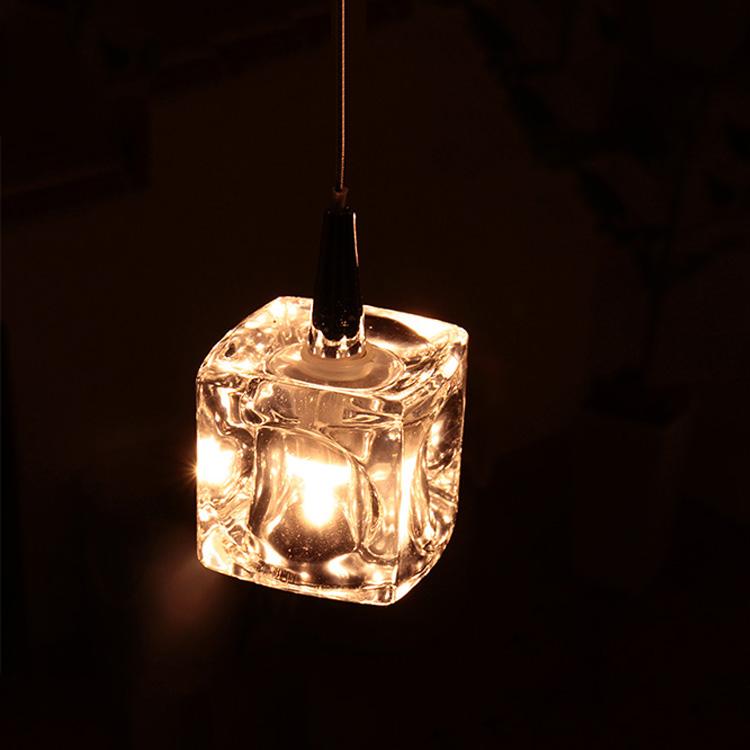 ガラスキューブ LED ペンダントライト 1灯 キシマ[kishima] CUBE LED ペンダントライト照明 CC-40324【照明器具 インテリア照明 天井照明 おしゃれ 間接照明 ダイニング用 北欧 ペンダントライト レトロ ガラスペンダント インテリア 新生活】