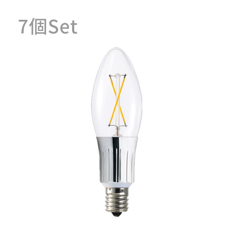 【LED電球 262lm E17クリア 7球セット】