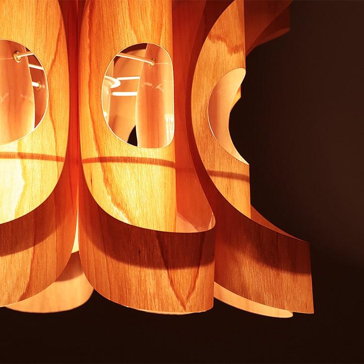 1灯和風ペンダントライト照明 花 -ハナ- ウッド HANA WOOD デザイナーズ・照明作家 谷俊幸【インテリア照明 天井照明 間接照明 寝室 ダイニング用 和 照明・和風・LED電球対応 6畳用 tani toshiyuki おしゃれ インテリア 新生活】
