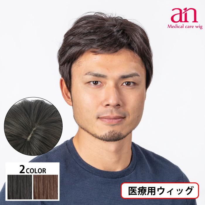 男性用ウィッグ フルウィッグ かつら ストレート 人工皮膚 手植え 軽量 自然 通気性 男性 ショート an メンズNO6 wig-st-59
