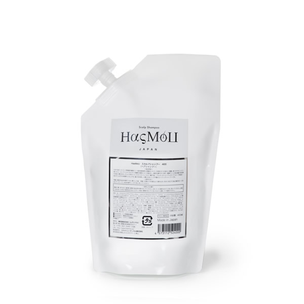 HasMoU ハスモウ スカルプシャンプー 400ml詰め替え 神シャンプー 再生医療 ヒト幹細胞培養液配合 頭皮ケア スキャルプ アミノ酸シャンプー