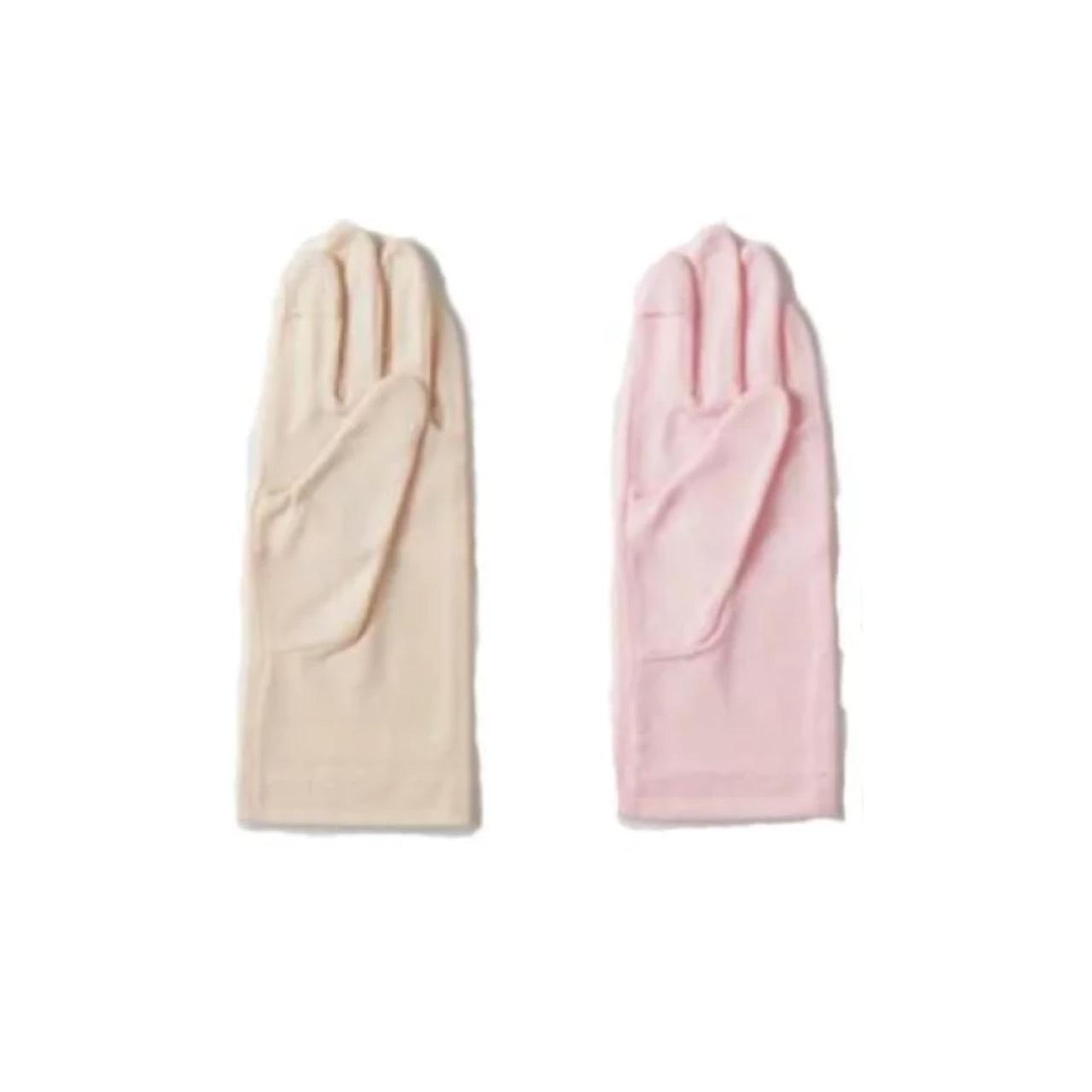 着けるだけ簡単保湿ケア ラフィナン 最新 美容ハンドパック ベージュ 〇スマホ対応タイプが誕生 ピンク 10% 待望 指が出るタイプの仕様でおやすみ時や通勤時も保湿時間に変換