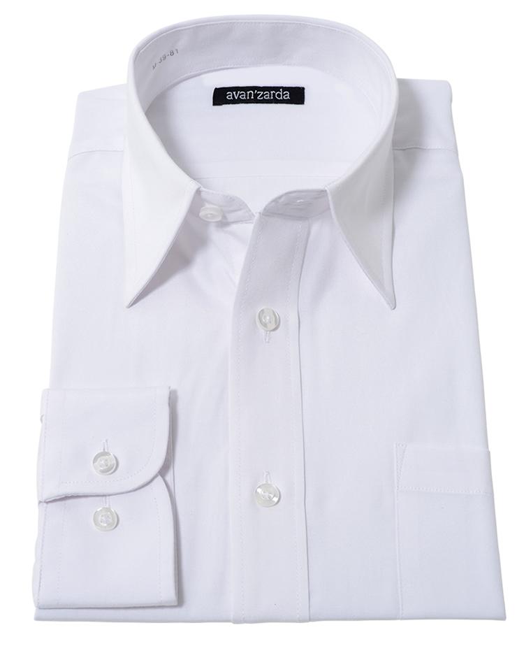 カッターシャツ 白 無地 長袖 ホワイト スリム ワイシャツ ドレスシャツ ビジネス フォーマル 冠婚葬祭 法事 法要 礼服 メンズ 紳士 男 学生 結婚式 スマート 白シャツ ホワイト シャツ 人気 レギュラー カラー WHT-300/1枚