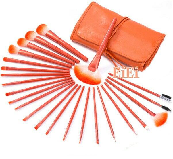24本メイクブラシセット、化粧筆セット、化粧ブラシセット、ブラシケース付き STZ-2417