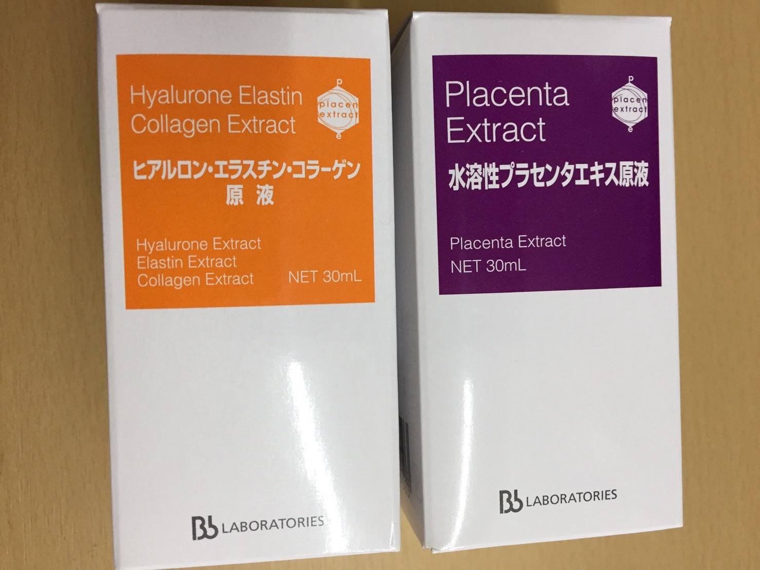 ヒアルロン エラスチン コラーゲン&水溶性プラセンタエキス 30ml Bbラボラトリーズ 原液2種セット