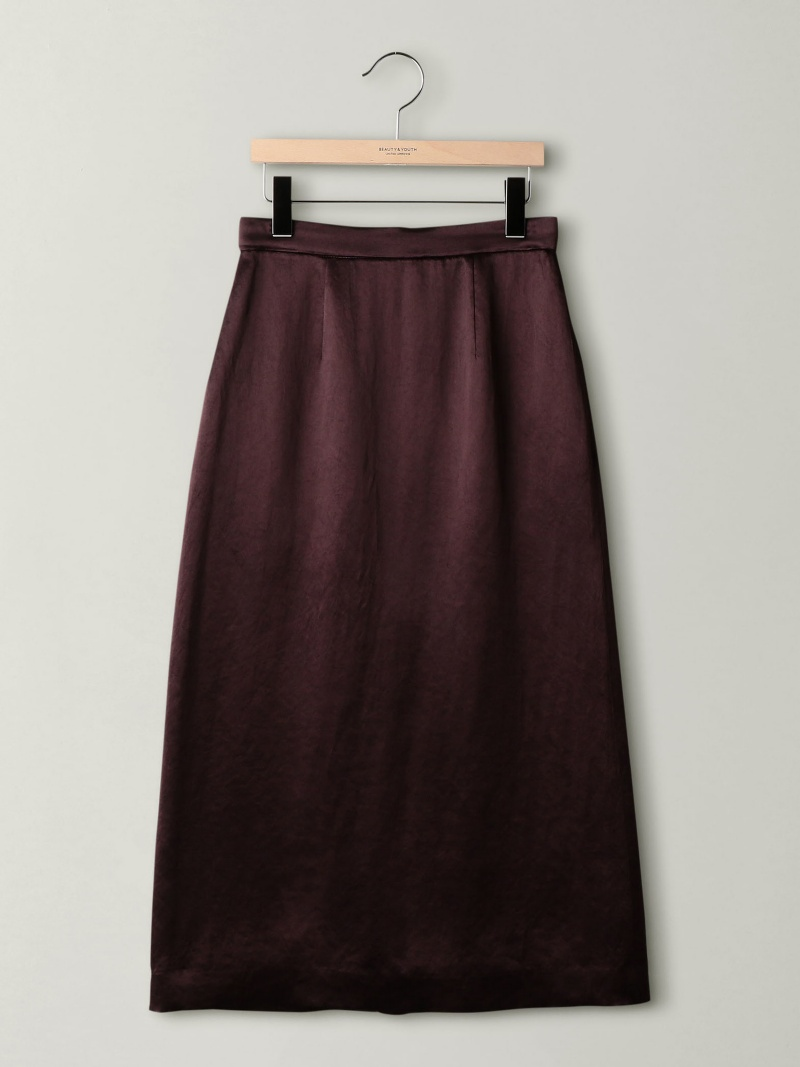 [Rakuten BRAND AVENUE]BY サテンタイトスカート BEAUTY & YOUTH UNITED ARROWS ビューティ&ユース ユナイテッドアローズ スカート【送料無料】