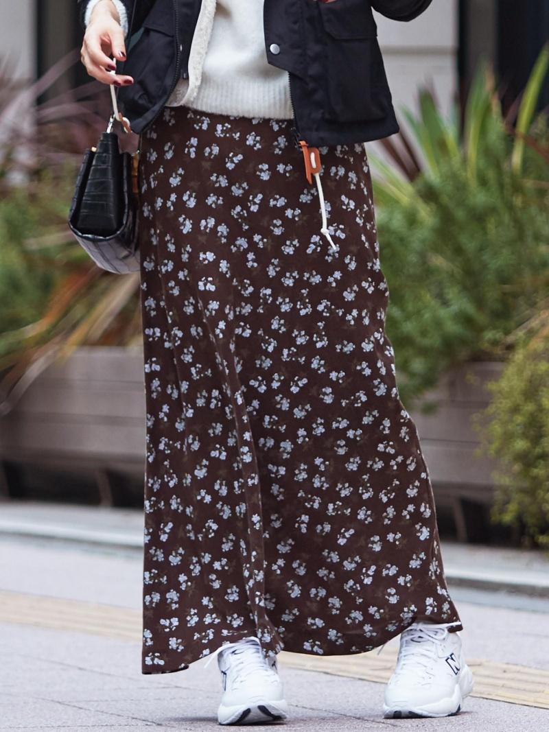 [Rakuten BRAND AVENUE]BY∴ フラワープリントマキシスカート BEAUTY & YOUTH UNITED ARROWS ビューティ&ユース ユナイテッドアローズ スカート【送料無料】